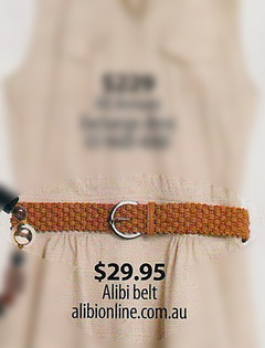 Shop Feb P37- Tan Woven Belt
