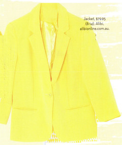 Shop Feb P59 - Cropped Yellow Blazer