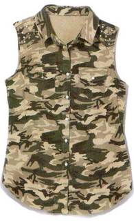 Shop March P127 - Camouflage Sleeveless Shirt