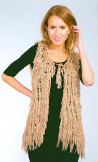 Shaggy Tie Front Vest by ALIBI