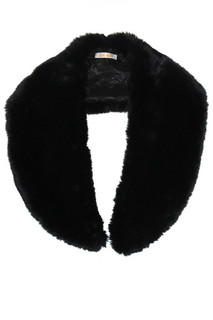 Women's tops online | Black Faux Fur Shrug Collar | AlibiOnline