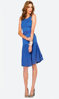 Woman's Day March P76 - Cobalt Blue A-Line Skirt