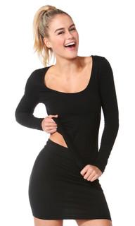 Women's tops  Madonna Long Sleeve Scoop Top  BETTY BASICS