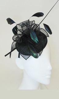 Fascinator in Australia | FH1989 - Medium Hat Style Fascinator on Head Band | FAB