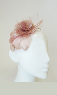 Ladies Fascinator | FH1980 - Feather and Flower Fascinator on Head Band | FAB