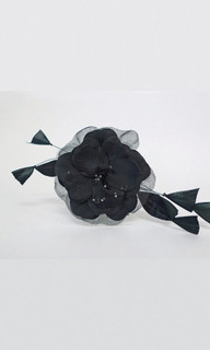 Facinators | FH942 - Flower Clip with Feather |FAB