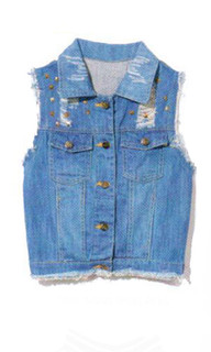 SHOP May P118 - Distressed Denim Vest
