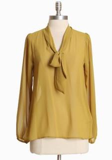 Women's tops online | Mustard Chiffon Shirt | ALIBI