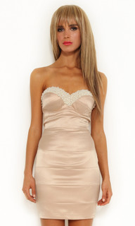Ladies Dresses Online|Morocha Pearl Beaded Dress|ELLE ZEITOUNE