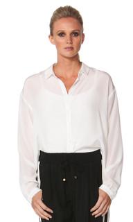 Split Decision Silk Shirt by FATE