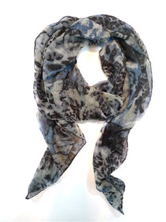 FA2099B - Animal Print Scarf by FAB