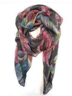 FA2101 - Feather Print Scarf by FAB