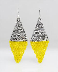 FE2045 - Diamond Beaded Earring by FAB