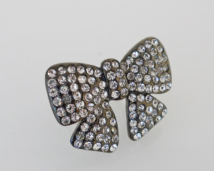 FR1792 - Bow Diamante Statement Ring by FAB