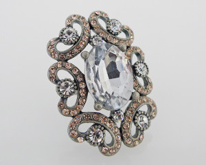 FR1817 - Diamante Statement Ring by FAB