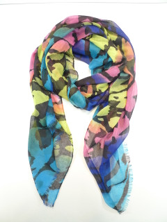 FA2024 - Neon Ombre Black Print Scarf by FAB