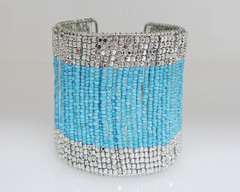 FB2057 - Wired Coloured Bead Cuff by FAB