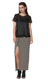 Maxi Skirts Online Australia | Riley Zipper Stripe Skirt | FATE