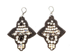 Women's Jewellery   FE2257 - BLACK FELT STAR SHAPE EARRING   FAB