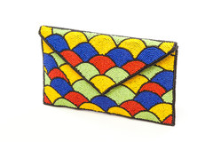 Women's Bags | FA2280 - 4 TONE BEADED ENVELOPE CLUTCH | FAB