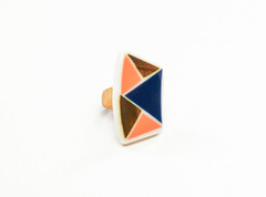 Women's Jewellery | FR2231 - WOODEN AND RESIN GEOMETRIC RING | FAB