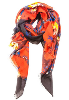 FA2291 - Floral Print Mid Weight Scarf by FAB