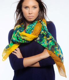 FA2292 - Water Print Light Weight Scarf by FAB