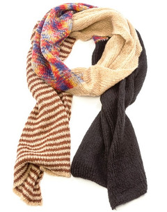 FA2293 - Block Panels Knitted Scarf by FAB