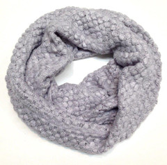 FA1683 - Mini Knitted Pom Pom Pattern Snood Scarf by FAB