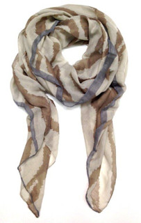 FA2028 - Neutral Zebra Printed Scarf by FAB