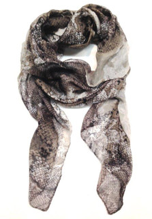 FA2074 - Neutral Tone Animal Print Scarf by FAB