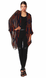 Online Jackets for Women | Tuscan Blooms Wrap | FATE