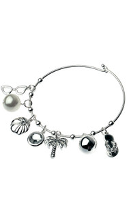 Women's Jewellery Online | CBM837 - Bracelet In Gold With Multi Palm Tree Charms | MAJIQUE