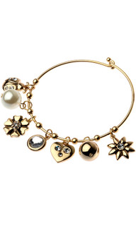 Women's Jewellery Australia | CBM838 - Bracelet Gold With Multi Ladybug Charms | MAJIQUE