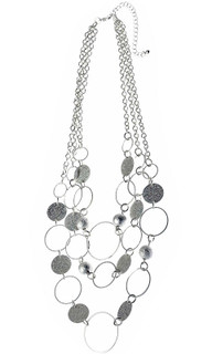Women's Jewellery Australia | CNM445 - Necklace With Multi Row Circle Pattern | MAJIQUE