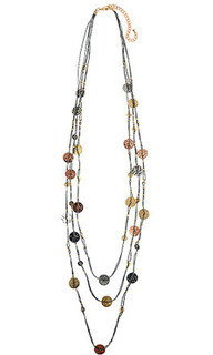 Women's Jewellery Australia| CNM458 Necklace Grey Cord| MAJIQUE