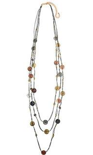 Women's Jewellery Australia| CNM458 Necklace Grey Cord| MAJIQUE