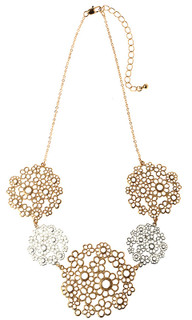 Women's Jewellery| CNM477 Necklace Gold With Flowers| MAJIQUE