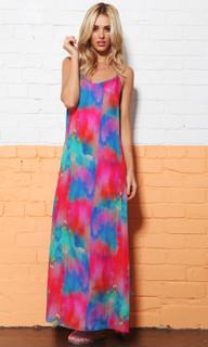 Ladies Dresses   Watercolour Maxi   SASS