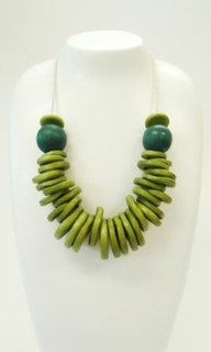 Women's Jewellery | FN2276G - Wooden Bead & Cotton Cord Necklace | FAB