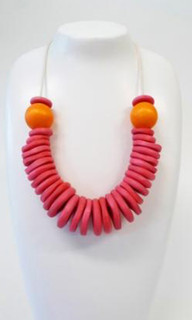 Women's Jewellery | FN2276O - Wooden Bead & Cotton Cord Necklace | FAB