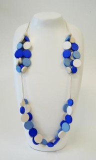 Women's Jewellery | FN2282C - Multi Strand Wooden Pebble Necklace | FAB