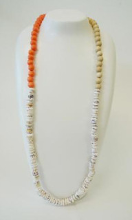 Women's Jewellery | FN2383 - Shell Wooden Bead Necklace | FAB