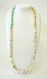 Women's Jewellery | FN2385 - Shell & Wood Bead Necklace | FAB