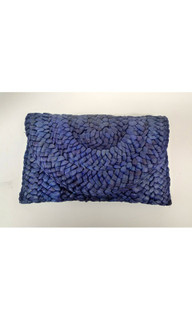 Women's Bags | FA2351BLU - Straw Weave Clutch | FAB