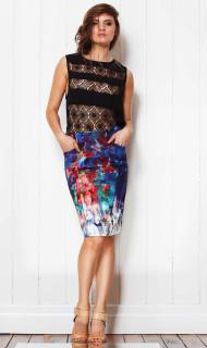 Ladies Skirts | Liquid Brush Skirt | FATE