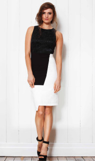 Ladies Dresses Online | Tyra Jaquard Dress | FATE