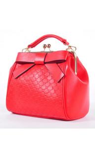 Women's Accessories | Bow Embossed Handbag | TEA WITH LEMON