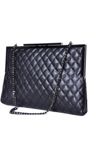 Women's Accessories | Diamond Quilted Chain Strap Handbag | TEA WITH LEMON