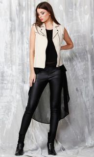 Jackets for Women Online | Elin Leather Vest | FATE
